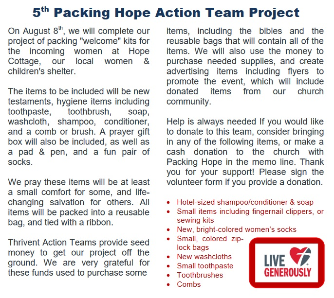 Packing Hope